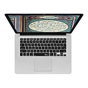 KB Covers Arabic Keyboard Cover for MacBook, MacBook Air 13 Inch, and MacBook Pro (Unibody) (ARB-M-CB-2)