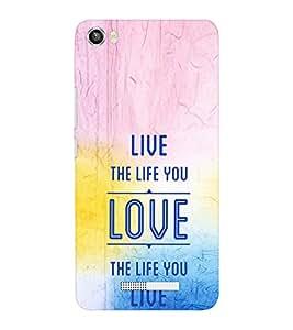 EPICCASE The Life you live Mobile Back Case Cover For Lava Iris X8 (Designer Case)