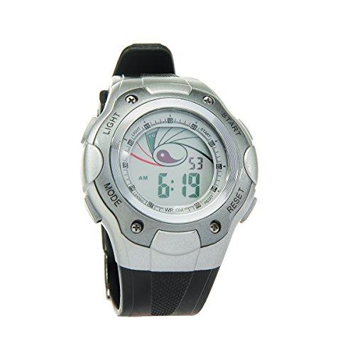 8Years - 1 Digitaluhr Armbanduhr Watch Stoppuhr Wasserdicht Silbergrau