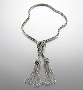 Bauble Bead Tassel Necklace