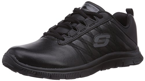 Skechers Flex Appeal Pure Tone, Low-Top Sneaker donna, Nero (BBK), 38