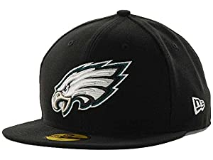 NFL Mens Philadelphia Eagles On Field 5950 Black Cap By Era from New Era Cap Company