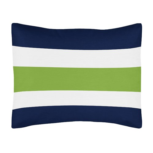 Navy And Lime Green Bedding front-121314