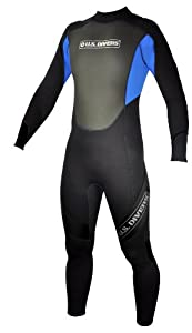 U.S.Divers Adult Full Wetsuit (Black/Blue, Medium/Large)