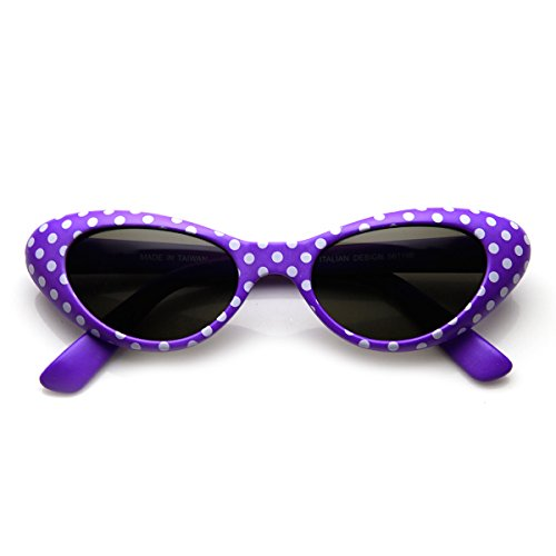 Womens Fun Polka Dot Colorful Party Novelty Cat eye Sunglasses