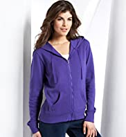 Cotton Rich Zip Through Hooded Sweatshirt