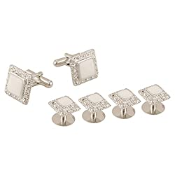 TRIPIN PATHANI KURTA BUTTONS STUDS WITH MATCHING CUFFLINK FOR MEN IN A GIFT BOX
