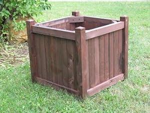 All Main Bucket D003 30 in. Cedar Shrub Planter