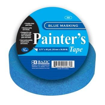 BAZIC Painter's Masking Tape, 40 Yards, Blue