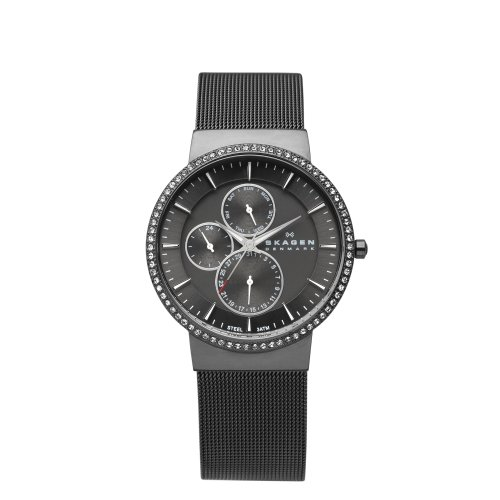 Skagen White Label Women's Quartz Watch with Grey Dial Analogue Display and Grey Stainless Steel Strap 357XLMM