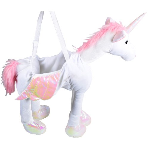 Girls-Ride-On-Unicorn-Childrens-One-Sized-Fancy-Dress-Costume-Aged-4-to-8-Years