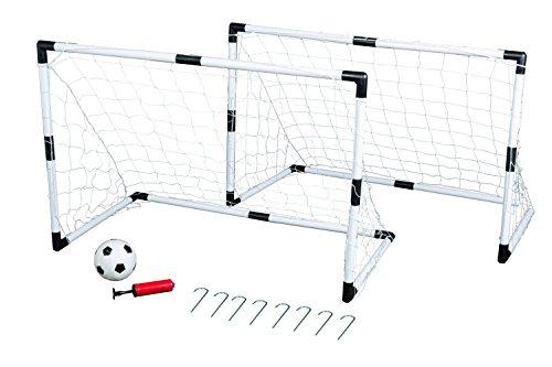 Idena - Conjunto de 2 porterías de fútbol para niños, un globo y una bomba (7370007)