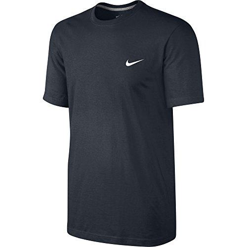 Nike Tee-Embrd Swoosh Maglietta, Dark Obsidian/Bianco, XL