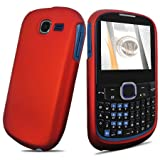 Red Rubberized Hard Case for Samsung SGH-A187 AT&T