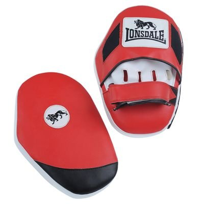 Lonsdale Pro Hook And Jab Pads Red/White/Black -