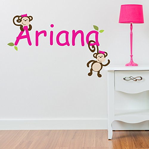 personalisierbar cheeky monkey gardine jungle children. Black Bedroom Furniture Sets. Home Design Ideas