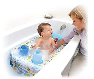 Sesame Street Inflatable Bathtub, Blue/White