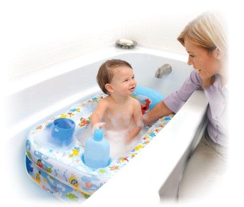 Sesame Street bañera hinchable, azul / blanco