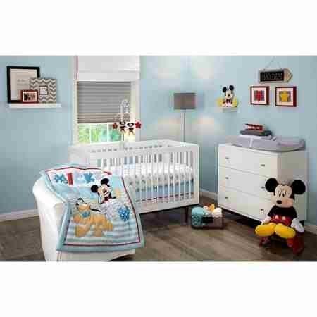 Disney Let's Go Mickey Mouse Adorable 3-Piece Crib Bedding Set