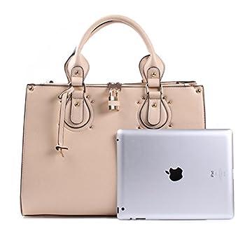 Dasein Fashion Padlock Briefcase Satchel Handbag, Tablet, iPad Bag 2