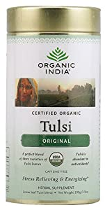 Organic India Tulsi Loose Leaf Tea Canister Original -- 3.5 oz by Organic India