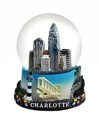 Charlotte North Carolina Mini Snow Globe 45mm