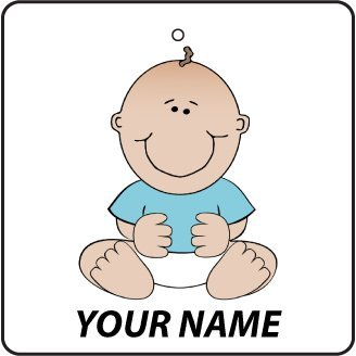 Personalised Baby Boy On Board Car Air Freshener back-842503