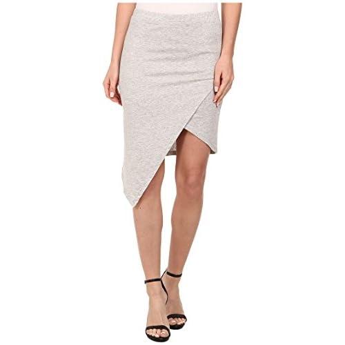 [オルタナティブ] Alternative レディース Modal Asymmetrical Skirt スカート Heather Grey LG [並行輸入品]