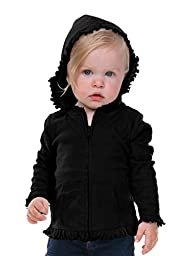 Kavio! Infants Sunflower Long Sleeve Zip Hoodie Black 24M