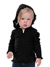 Kavio! Infants Sunflower Long Sleeve Zip Hoodie Black 24M