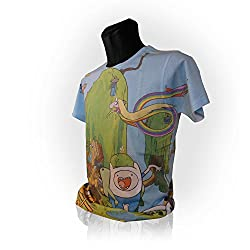 Adventure Time Finn and Jake's Treehouse Sublimation Print T-Shirt (Medium) from BIOWORLD