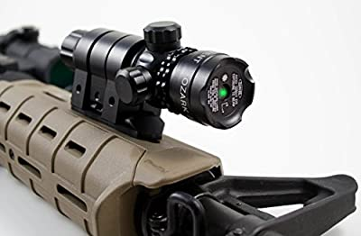 Green Laser Sight System by Ozark Armament - 5mw 532nm High Powered Tactical Green Laser with Picatinny Rail Mount Barrel Mount Pressure Switch and On/Off Switch for Rifles and Shotguns by Ozark Armament