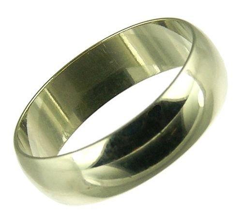 Ladies' Wedding Ring, 9 Carat White Gold, D Shape, 5mm Band Width