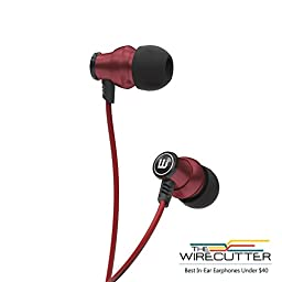 Brainwavz Delta Red IEM In Ear Earbuds Noise Isolating Earphones Remote Headset Apple iPhone & Android