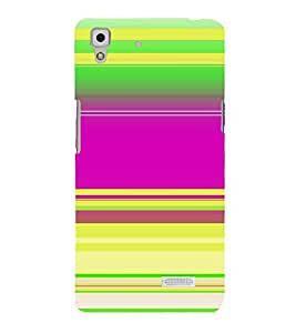 Vizagbeats Horizontal rainbow stripes Back Case Cover for Oppo R7