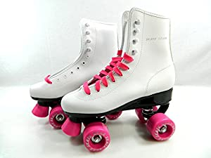 Big Boy Speedy Roller Skate Kids Youth Adult Men Women Size 1-13 (White Pink, 7 (Adult Men))