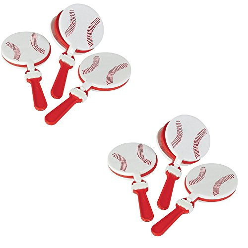 Find Cheap Fun Express Plastic Baseball Clappers Set (2 Dozen)