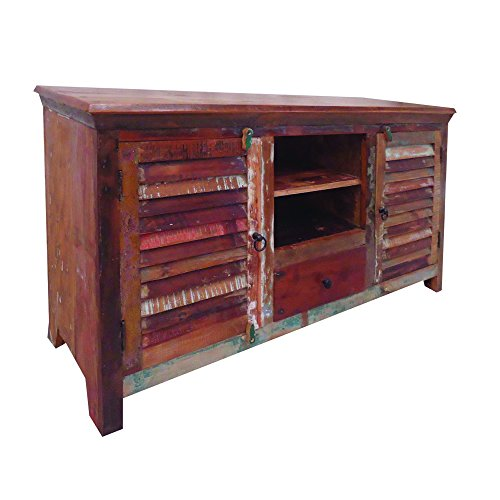 Yosemite Home Decor YFUR-SBA5239 Reclaimed Media Stand, Hand Painted Reclaimed Wood Finish (Shutter Media Console compare prices)