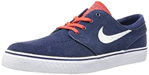 NIKE  Zoom Stefan Janoski, Chaussures de skateboard homme - Bleu - Blau (Midnight Navy/White/Light Crimson), 44.5 EU