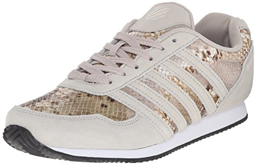 K-Swiss Women's New Haven CMF Athletic Shoe, Rainy Day/Antique White/Snake, 9 M US