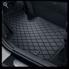 MINI Essential Black All Weather Floor Mats - Front (Mini Cooper Mats compare prices)