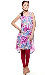 Lyla Cotton Mauve Kurti for Women(Size-Small)