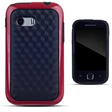 buy Zooky® Red Plastic Carbon Style Case / Cover / Shell For Samsung Galaxy Y (S5360)