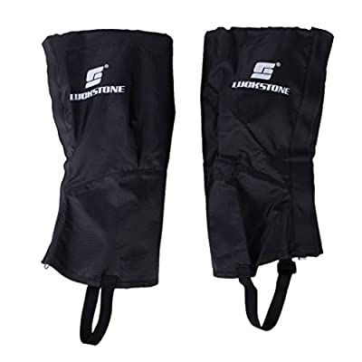 1 Pair Waterproof Hiking Climbing Snow Legging Gaiters Leg Covers (Black, 44 cm)