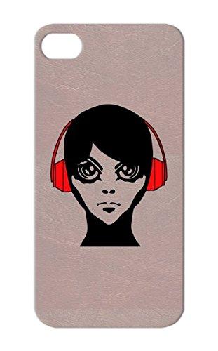 Scratch-Resistant Red Jix Headphones By Gaijin Manga Anime Bishi Art Design Chibi Mecha Shoyo Bishonen For Iphone 5/5S Cover Case