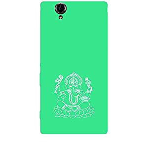 Skin4gadgets Lord Ganesha - Line Sketch on English Pastel Color-Turquiose Green Phone Skin for XPERIA T2 ULTRA