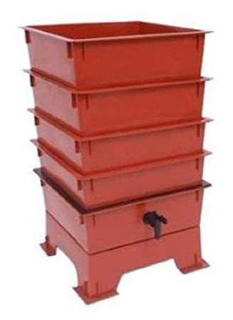 The Worm Factory Composting System 4 Tray Red