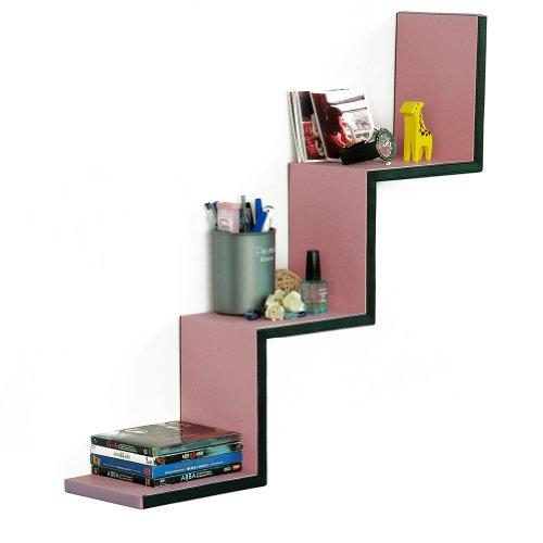 Trista - [Girls Secret] Ladder-Shaped Leather Shelf / Bookshelf / Floating Shelf