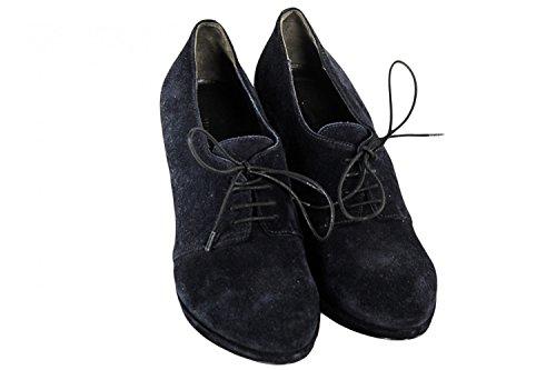 Scarpe donna ROBERTO DEL CARLO francesine N.36 in camoscio blu X1152