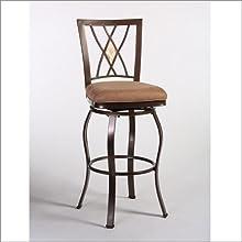 Hillsdale Furniture Cecily 4775-Inch Swivel Bar Stool BlackHoney Finish